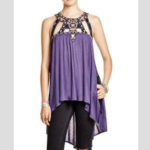 FREE PEOPLE Vision Quest Embellished Tunic - XS
